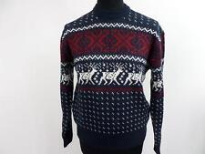 "Mens Vintage Knit Novelty Jumper Sweater 38"" Multi Grade A BA404"