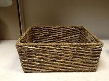 RECTANGLE Seagrass Storage Organizer Toy Bath Office Craft Art Basket 16x13x7 Lg