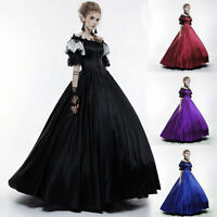 Queen Court Cos Ball Gown Medieval Renaissance Dresses Cosplay Victorian Dress