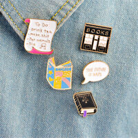 Enamel Pin Buckle books to do listing Pins Brooches Lapel Jewelry Jeans Qe