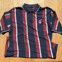 Cleveland Indians Vintage Polo Shirt Men's Large