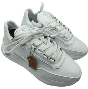 Benjamin berner bnj hector womens white phython cut nappa trainers size 5.5 uk