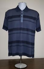 OFFICIAL MEN'S JEEP Polo Shirt Size L Large Blue Striped
