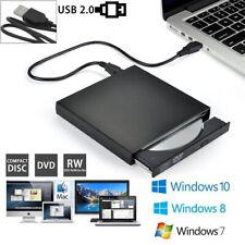 Externes DVD Laufwerk USB 2.0 Brenner Slim CD DVD±RW Brenner Für PC Laptop DE