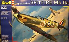 WWII BRITISH SUPERMARINE SPITFIRE MK.IIa REVELL 1:32 SCALE PLASTIC MODEL KIT