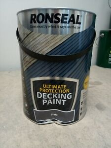 Ronseal Ultimate Protection- Slate Decking Paint - 5L