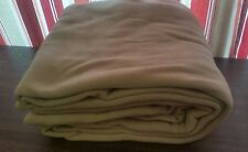 "(ONE)-TAN FLEECE FULL SIZE ALTA DURABLE BLANKET 100% POLYESTER 80"" x 90"""