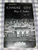Vintage Gallup 1957 Guide,Index & Fold-Out Map,Greater Kansas City,Missouri,Rare