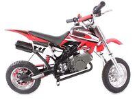 NEW 50CC MINI MOTO SCRAMBLER DIRT DEVIL MOTORBIKE~KIDS OFF-ROAD CROSSER~RED