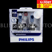 Free T10 (PAIR) PHILIPS H4 60W/55W WHITE VISION WARM WHITE LIGHT HALOGEN BULBS