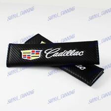 1Set Carbon Fiber Car Seat Belt Cover Safety Shoulder Pads for Cadillac