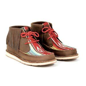 Ariat Cruiser Fringe Women's Chukka Boots Palm Brown Indian Saddle Blanket 6.5