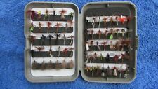 SAMEO  FLY BOX  (5) WITH NEW DRY FLIES