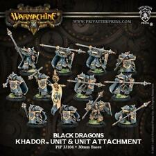 Privateer Press Warmachine Khador Iron Fang Pikemen Black Dragons PIP 33104