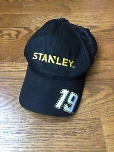 Carl Edwards #19 NASCAR Ball Cap Hat black Stanley Tools Trucker Hat