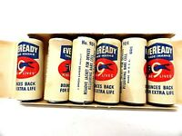 Vintage c1950's Eveready 1.5 volt Batteries in Box - (6) Paper Wrapped #904