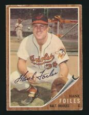 1962 Topps #112 HANK FOILES (Baltimore Orioles) *AUTOGRAPHED*