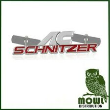 AC SCHNITZER BMW BADGE - BRAND NEW GRILLE BADGE - RED