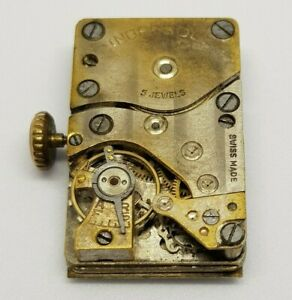 Ingersoll Hand Wound Movement 5 Jewels Swiss Made