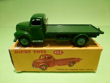 DINKY TOYS 422 FORDSON THAMES FLAT TRUCK - GREEN - NEAR MINT CONDITION IN BOX