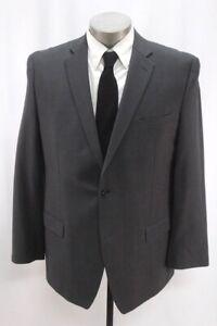mens gray JOSEPH ABBOUD blazer jacket sport suit coat two button wool 44 R