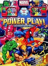 Marvel Heroes: Power Play! Electronic Game Book 2006 * Five Games Oversized NEW!