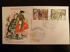 MONACO PREMIER JOUR FDC YVERT  1008/9  CARMEN DE BIZET   1,40+0,80F MONACO  1975