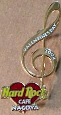 Hard Rock Cafe NAGOYA 2004 Valentine's Day PIN Music Clef Note Heart Logo #20969