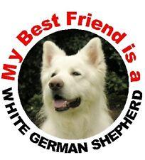 2 German Shepherd Dog (White) Car Stickers By Starprint