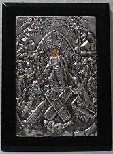 Pasqua icona Gesù resurrezione metallo OKLAD Icon Resurrection icone Anastasis