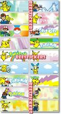 24 POKEMON Personalised Name Sticker,Label,Tag