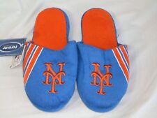 NWT MLB STRIPE LOGO SLIDE SLIPPERS - NEW YORK METS - SMALL