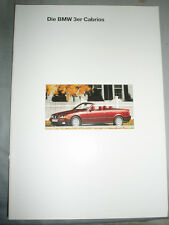 BMW 3 Series Convertible brochure 1994 ed 1 German text