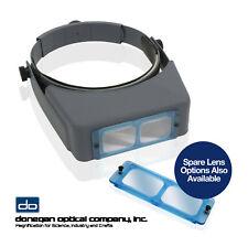 Donegan Optical OPTIVISOR Precision Binocular Headband Magnifier OR Spare Lenses