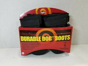Ultra Paws Durable Dog Boots Size LG -  Black