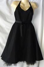 Junior's Black Halter Cocktail Dress Size 9 - 10 NWT