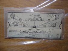 Réglette Omaro P6 Profilés barres Duralumin en rouge normes aeronautique METIER