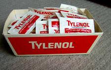 RARE vintage 1970s McNeil TYLENOL physician pharmaceutical SAMPLES display box