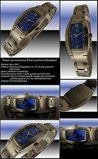 Osco MACIZO TITANIO Mujer Reloj De Diseño Azul NUEVO
