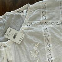 "FREE PEOPLE blouse Coton ""Maria Maria"" IVOIRE NEUF GRAND XS +POCHE ISABEL MARANT"