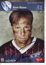 FOOTBALL carte joueur RENE RENNO équipe VFL BOCHUM 1848 signée