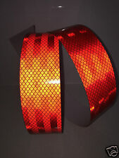 3M Red Engineer Prismatic Grade Diamond Adhesive Reflective Tape 50mm x 5m Roll