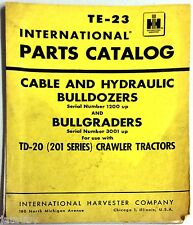 Te-23 International Parts Catalog Cable And Hydraulic Bulldozers And Bullgraders 00004000