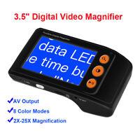 Elektronische Digital LCD 2-25X Vergrößert Tragbar Handgehalten Lesen Hilfe Av