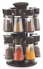 Premium Multipurpose Revolving Plastic Spice Rack 16 Piece Condiment Set