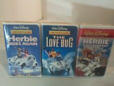 Lot of 3 Family Film Collection Walt Disney VHS tapes - Herbie The Love Bug
