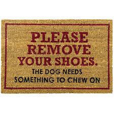 Please Remove Shoes Large Doormat Outdoor Front Door Non Slip Rubber Bottom Mat