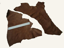 MEDIUM BROWN  LEATHER REMNANTS -  #2958 -  CRAFTS, REPAIRS, ELBOW PATCH LARP ETC