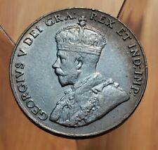 Canada 1928 King George V 5 Cent Coin