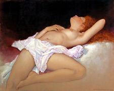 home decor,Art Quality Canvas Print, Oil Painting The Girl Sleeps 16x20